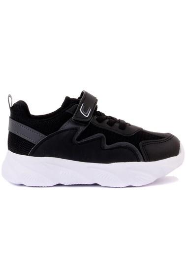 Cool 20-S17 Siyah Erkek Çocuk Fileli Günlük Spor Ayakkabı Siyah